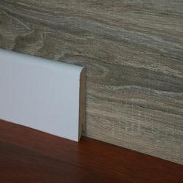 Plinta alba din MDF Egger 80x15mm,2,4m
