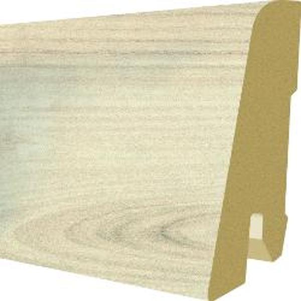 Plinta MDF Egger 60x17 mm, 2,4 m, culoare Stejar Elton Alb