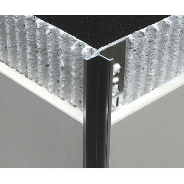 EIK100.91-Bagheta din aluminiu cu linii drepte pt. colt interior, A=10mm, 2.5 m