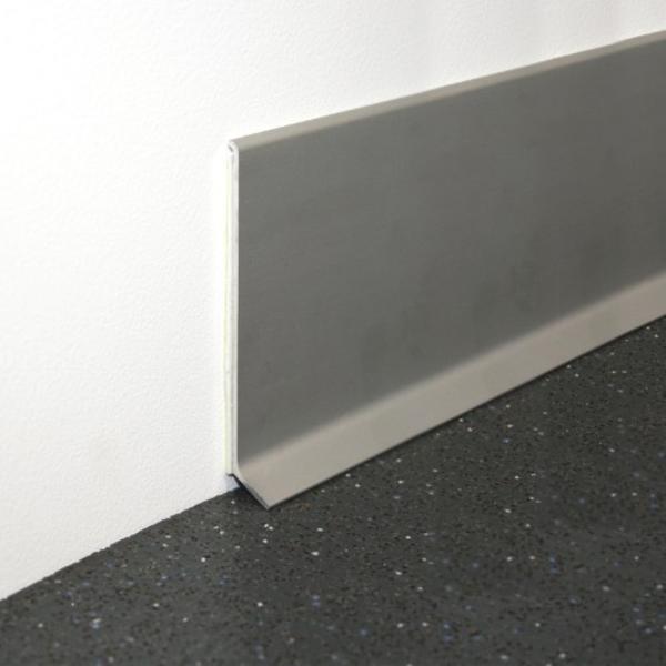KAA107.81-Plinta din aluminiu anodizat, A=100mm, l=11mm, argintiu satinat, 2.7m