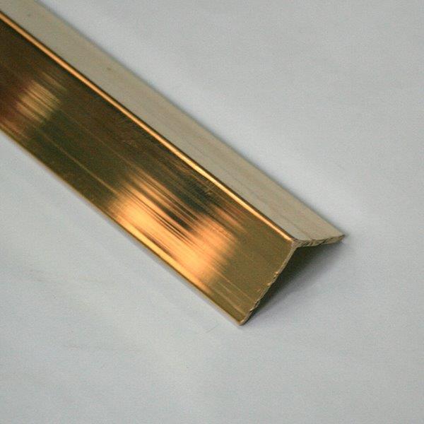 LBA207.88-Cornier cu laturi drepte din alama regala  l=A=20mm