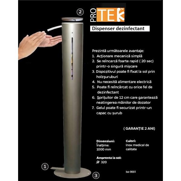 DDI321-Dispenser / distribuitor pentru gel dezinfectant de maini