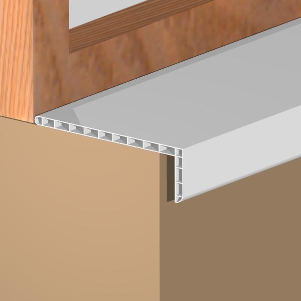 GEI203-Glaf interior,economic,din PVC 196 mm