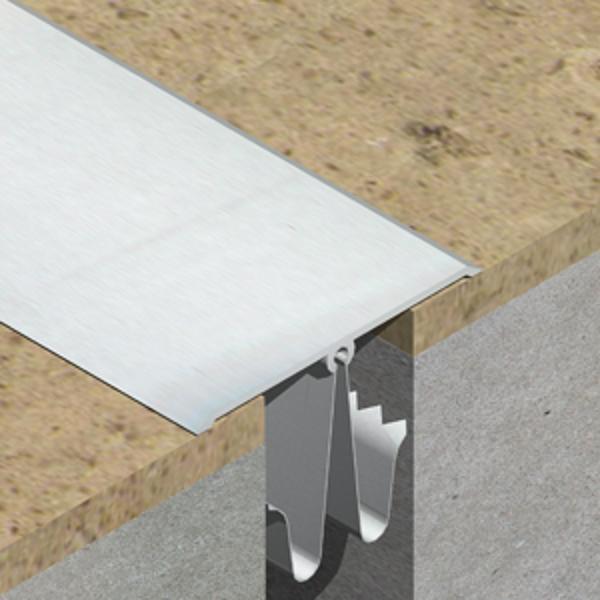 GOA603-Profil de dilatatie din aluminiu eloxat pentru mascare rost 20-40mm perete / tavan
