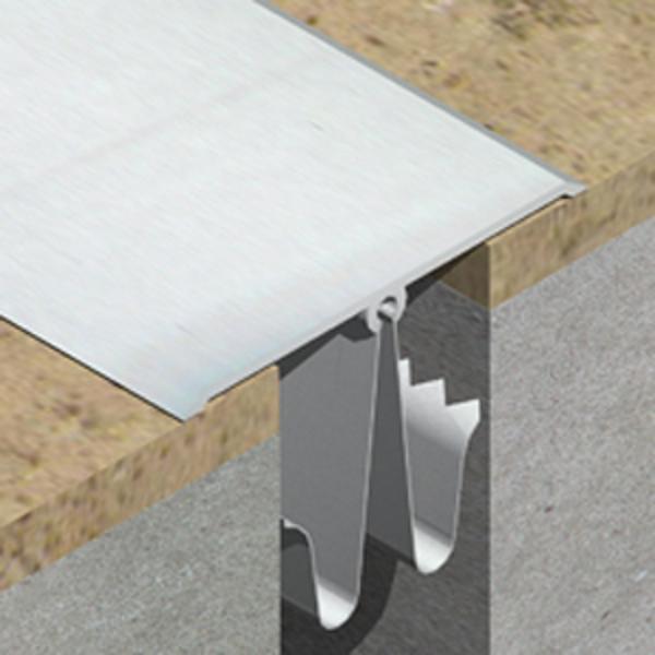 GOA803- Profil de dilatatie din aluminiu eloxat pentru mascare rost 25-55mm perete / tavan