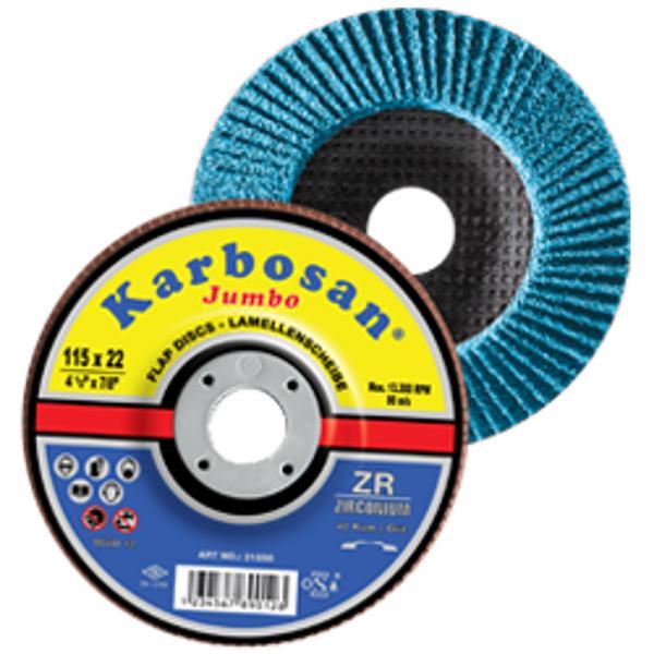 Disc lamelar conic JUMBO cu zirconiu pentru inox/metal