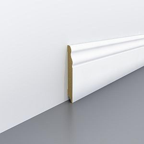 Plinta alba din MDF Egger 100x18mm,2,4m