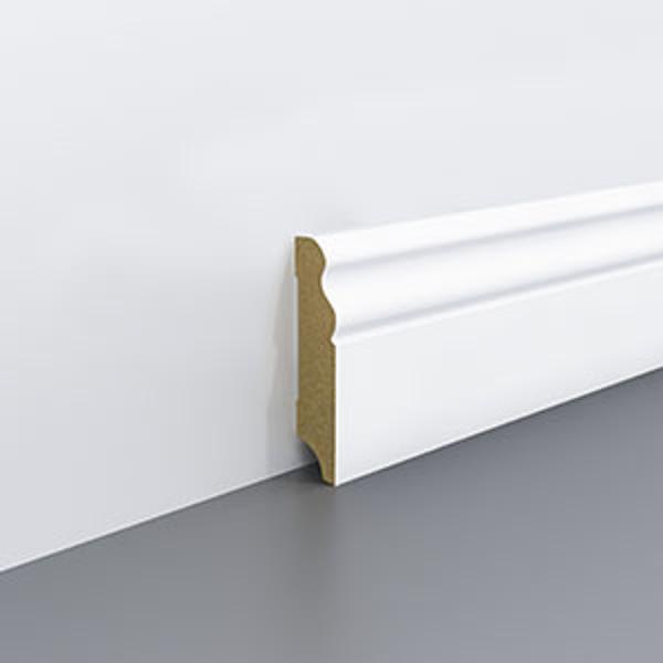 Plinta  alba  din MDF Egger 70x18mm,2,4m