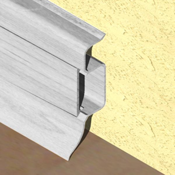 PBC505-Plinta PROLUX din PVC culoare artar alb pentru parchet 50mm