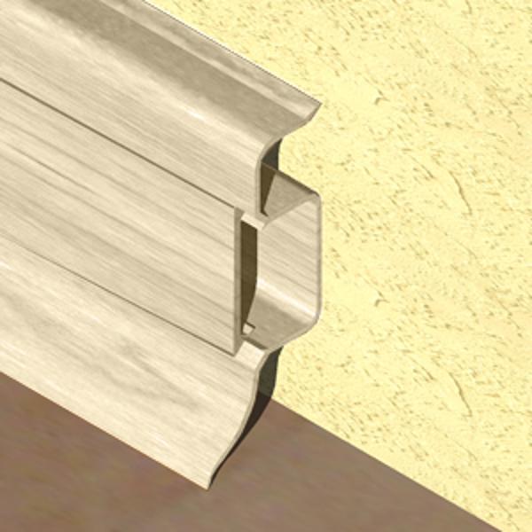 PBC505-Plinta PROLUX din PVC culoare fag inchis pentru parchet 50mm