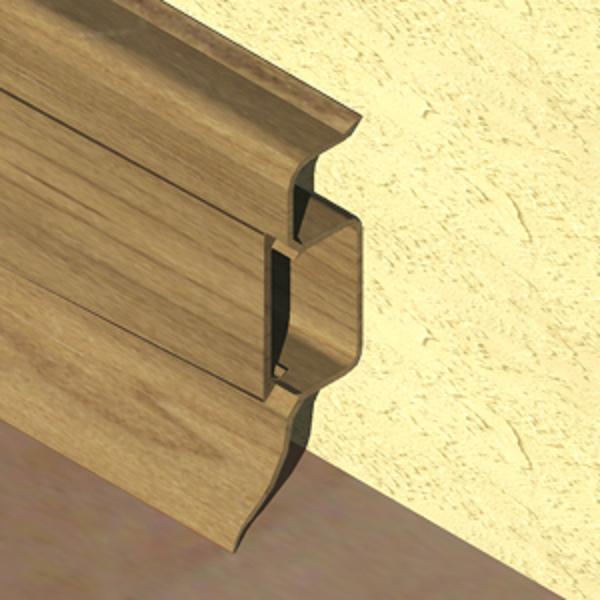 PBC505-Plinta PROLUX din PVC culoare stejar vechi pentru parchet 50mm