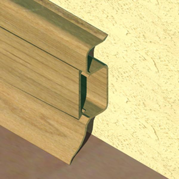 PBC505-Plinta PROLUX din PVC culoare stejar pentru parchet 50mm