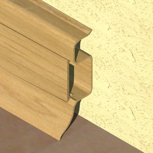 PBC505-Plinta PROLUX din PVC culoare stejar deschis pentru parchet 50mm
