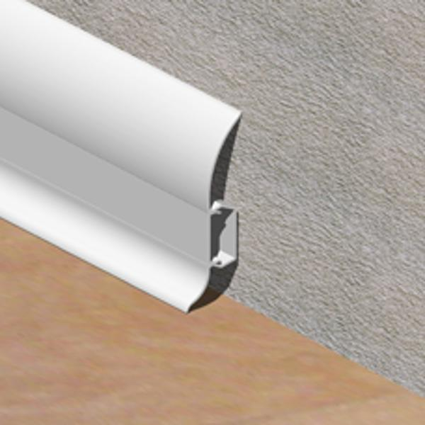 Plinta alba-PBC605-LINECO din PVC pentru parchet-60mm