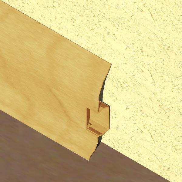 PBC605-Plinta LINECO din PVC culoare stejar deschis pentru parchet-60mm