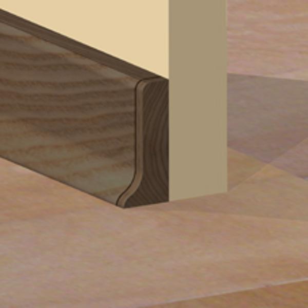 PBDS505.159 - Set 4 bucati  piese inchidere plinta (2 buc. dreapta + 2 buc. stanga) culoare stejar vechi pentru plinta PBC505