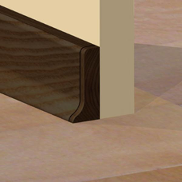 PBDS505.162 - Set 4 bucati piese inchidere plinta (2 buc. dreapta + 2 buc. stanga) culoare wenge pentru plinta PBC505