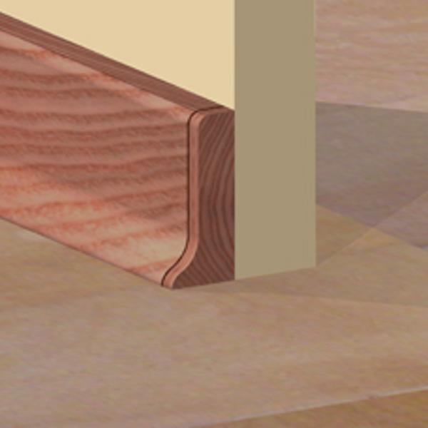 PBDS505.164 - Set 4 bucati piese inchidere plinta (2 buc. dreapta + 2 buc. stanga) culoare cires inchis pentru plinta PBC505