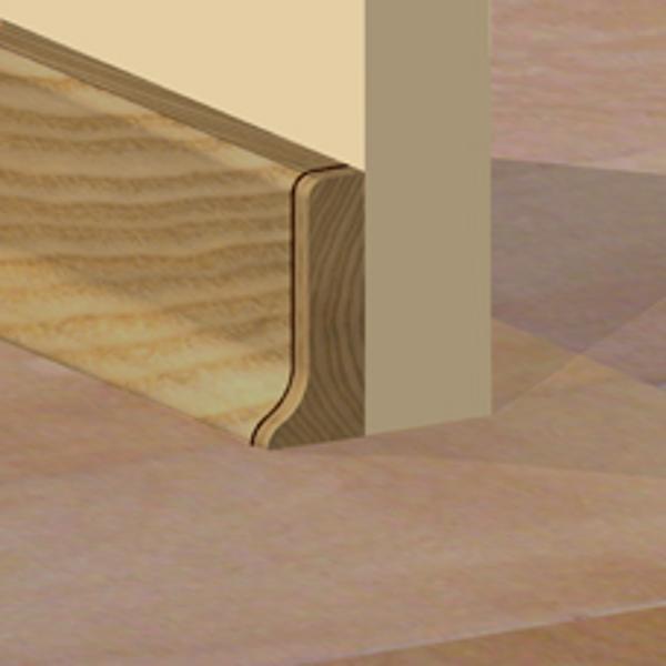 PBDS505.40 - Set 4 bucati piese inchidere plinta (2 buc. dreapta + 2 buc. stanga) culoare stejar pentru plinta PBC505
