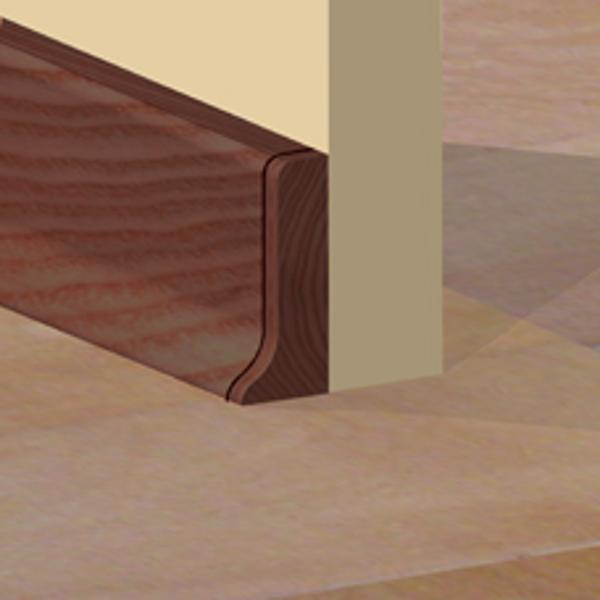 PBDS505.41 - Set 4 bucati piese inchidere plinta (2 buc. dreapta + 2 buc. stanga) culoare mahon pentru plinta PBC505