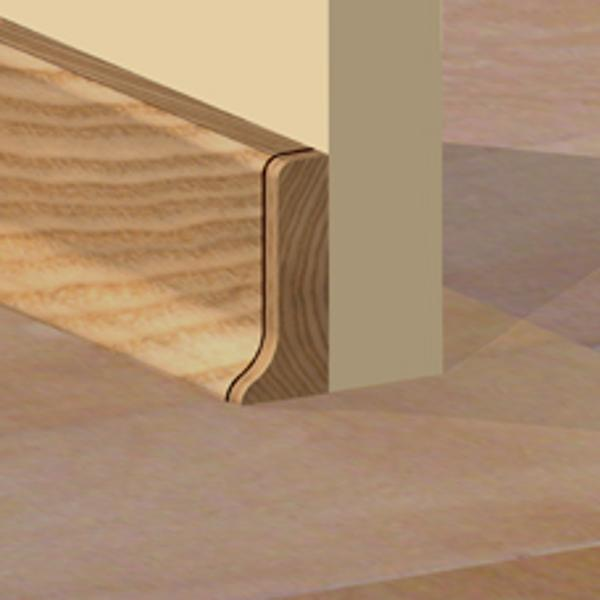 PBDS505.66 - Set 4 bucati piese inchidere plinta (2 buc. dreapta + 2 buc. stanga) culoare stejar deschis pentru plinta PBC505