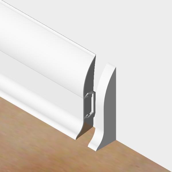 PBDS605.01 - Set 4 bucati piese inchidere plinta (2 buc. dreapta + 2 buc. stanga) culoare alb pentru plinta PBC605