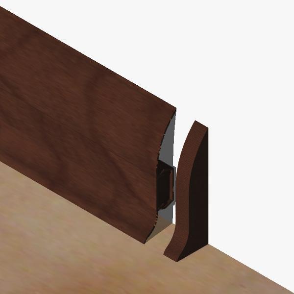 PBD605.141-S4-Set 4 bucati piese inchidere dreapta culoare mahon inchis pentru plinta PBC605