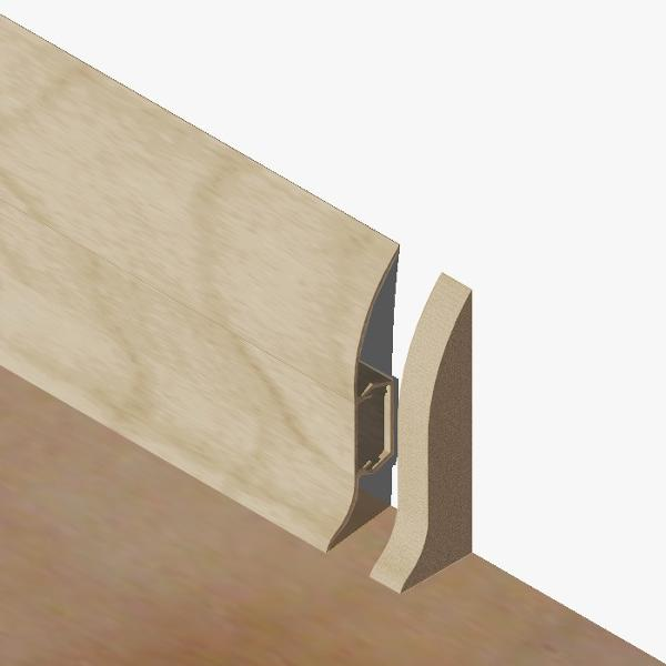 PBDS605.153 - Set 4 bucati piese inchidere plinta (2 buc. dreapta + 2 buc. stanga) culoare artar alb pentru plinta PBC605