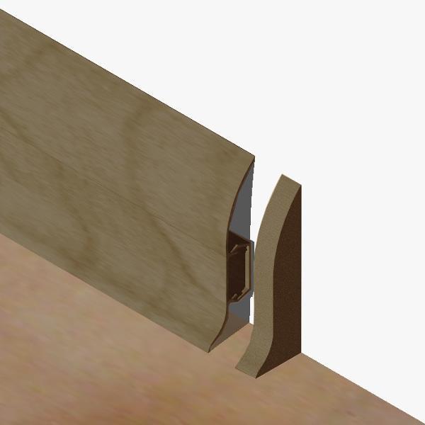 PBDS605.159 - Set 4 bucati piese  inchidere plinta (2 buc. dreapta + 2 buc. stanga) culoare stejar vechi pentru plinta PBC605