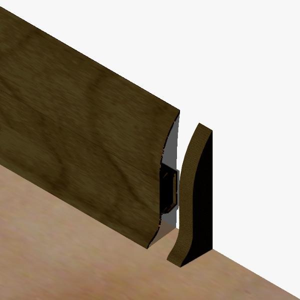 PBDS605.162 - Set 4 bucati piese inchidere plinta (2 buc. dreapta + 2 buc. stanga) culoare wenge pentru plinta PBC605