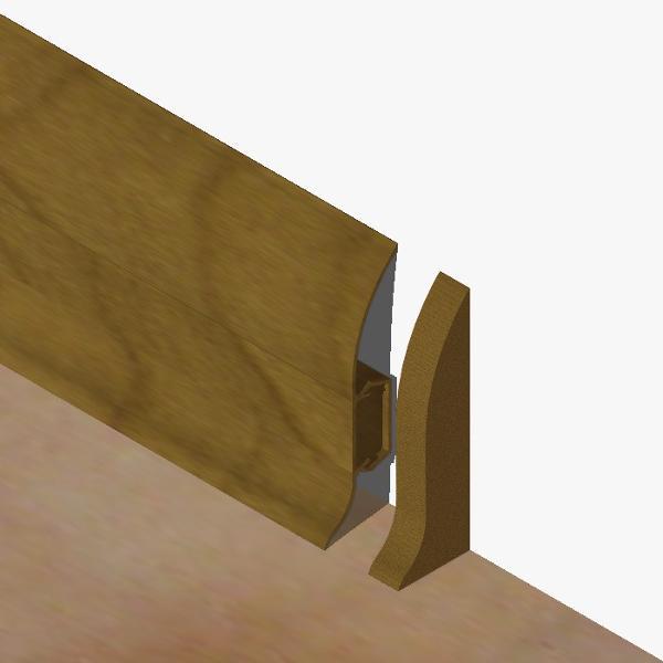 PBDS605.167 - Set 4 bucati piese inchidere plinta (2 buc. dreapta + 2 buc. stanga) culoare nuc inchis pentru plinta PBC605