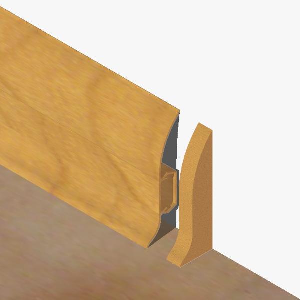 PBDS605.169 - Set 4 bucati piese inchidere plinta (2 buc. dreapta + 2 buc. stanga) culoare stejar auriu pentru plinta PBC605