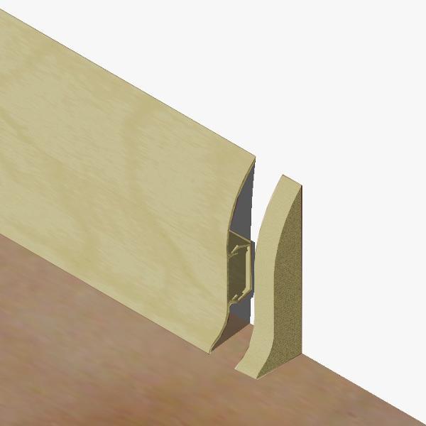 PBDS605.242 - Set 4 bucati piese inchidere plinta (2 buc. dreapta + 2 buc. stanga) culoare gri artar pentru plinta PBC605
