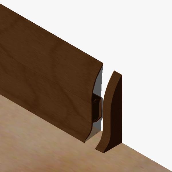 PBDS605.253 - Set 4 bucati piese inchidere plinta (2 buc. dreapta + 2 buc. stanga) culoare stejar maroniu pentru plinta PBC605