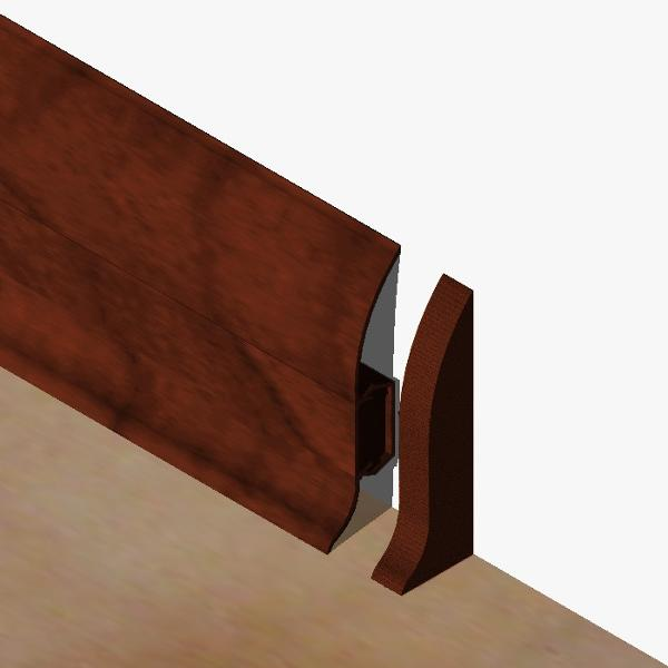 PBDS605.41 - Set 4 bucati piese inchidere plinta (2 buc. dreapta + 2 buc. stanga) culoare mahon pentru plinta PBC605
