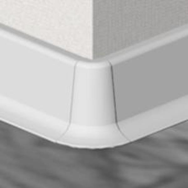 PBE605.01-S4-Set 4 bucati piese colt exterior culoare alb pentru plinta PBC605