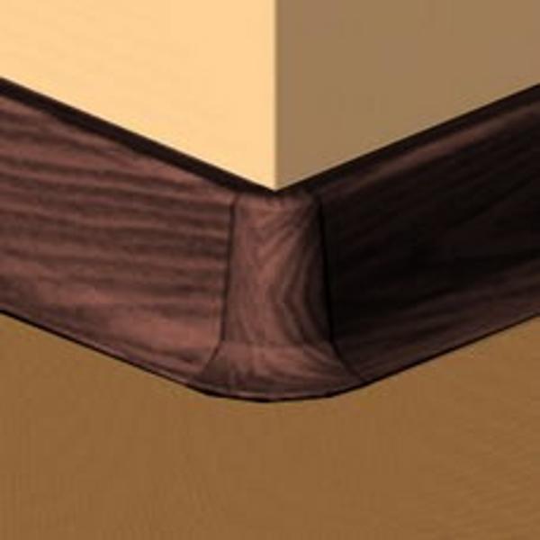 PBE605.141-S4-Set 4 bucati piese colt exterior culoare mahon inchis  pentru plinta PBC605