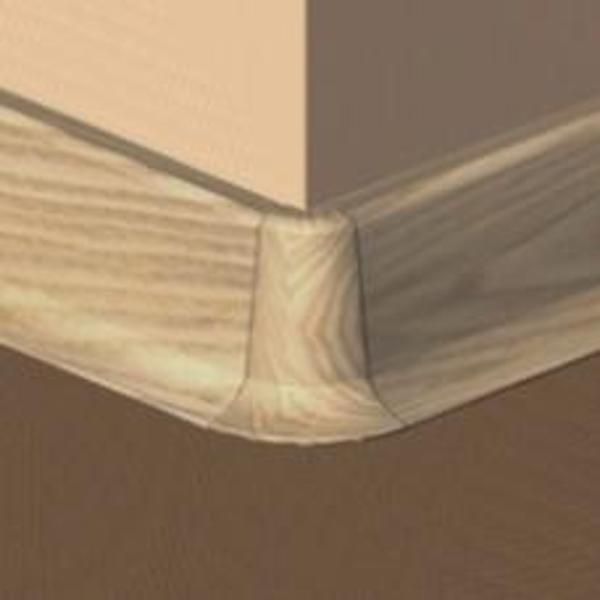 PBE605.155-S4-Set 4 bucati piese colt exterior culoare fag inchis pentru plinta PBC605
