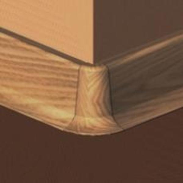 PBE605.157-S4-Set 4 bucati piese colt exterior culoare stejar inchis pentru plinta PBC605