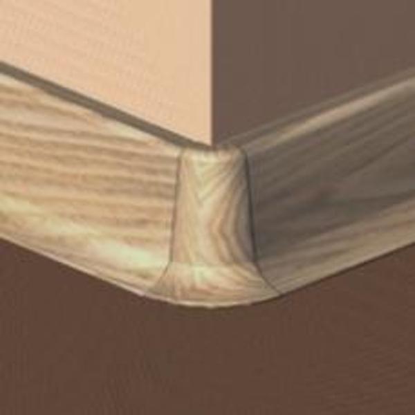 PBE605.66-S4-Set 4 bucati piese colt exterior culoare stejar deschis pentru plinta PBC605