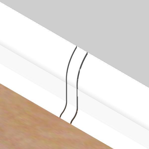 PBL605.01-S4-Set 4 bucati piese legatura culoare alb pentru plinta PBC605