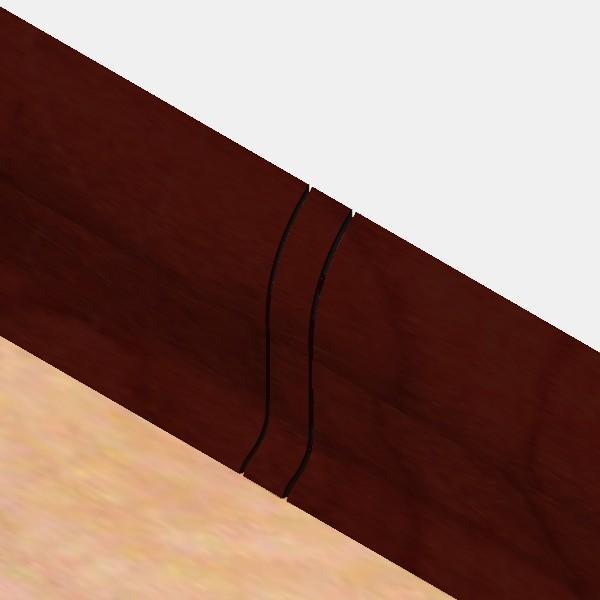 PBL605.141-S4-Set 4 bucati piese legatura culoare mahon inchis pentru plinta PBC605