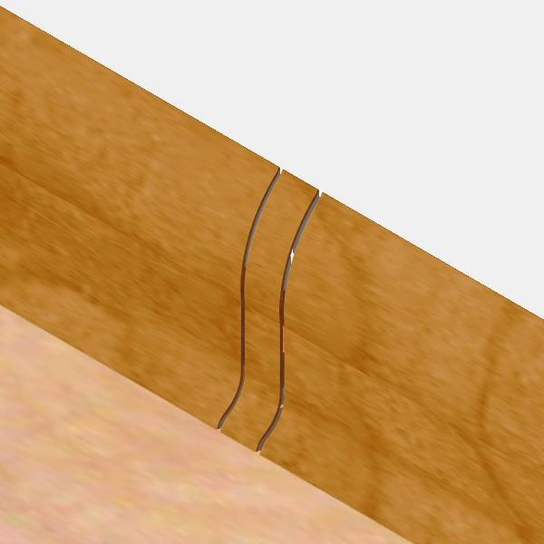 PBL605.169-S4-Set 4 bucati piese legatura culoare stejar auriu pentru plinta PBC605