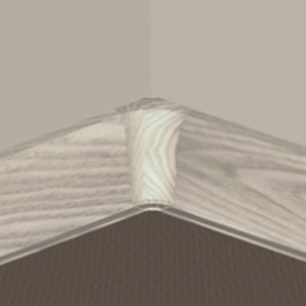 PBY505.153-S4-Set 4 bucati piese colt interior culoare artar alb pentru plinta PBC505
