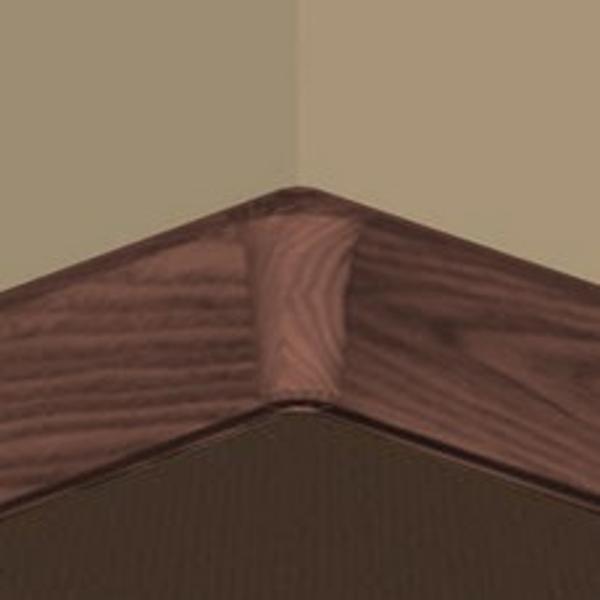PBY605.141-S4-Set 4 bucati piese colt interior culoare mahon inchis pentru plinta PBC605