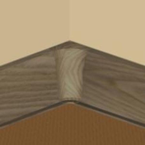 PBY605.159-S4-Set 4 bucati piese colt interior culoare stejar vechi pentru plinta PBC605
