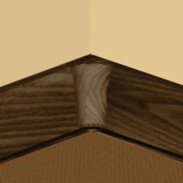 PBY605.253-S4-Set 4 bucati piese colt interior culoare stejar maroniu pentru plinta PBC605