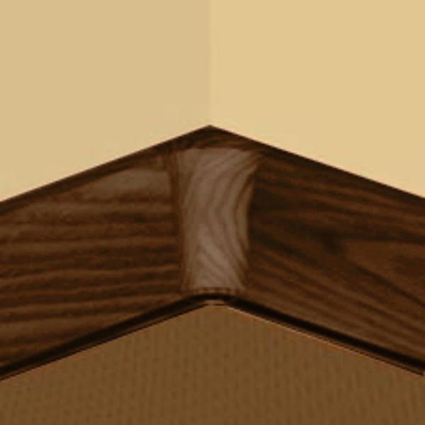 PBY605.267-S4-Set 4 bucati piese colt interior culoare cires maroniu pentru plinta PBC605