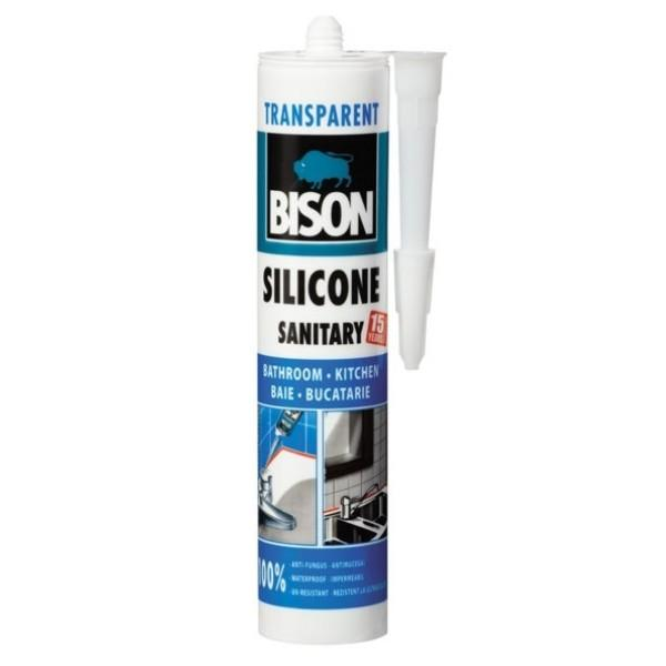 SS280-BISONSiliconSanitaralbsautransparent280ml
