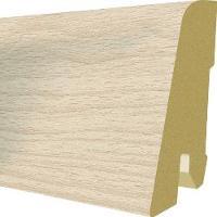Plinta MDF Egger 60x17 mm, 2,4 m, culoare Stejar Brooklyn Alb